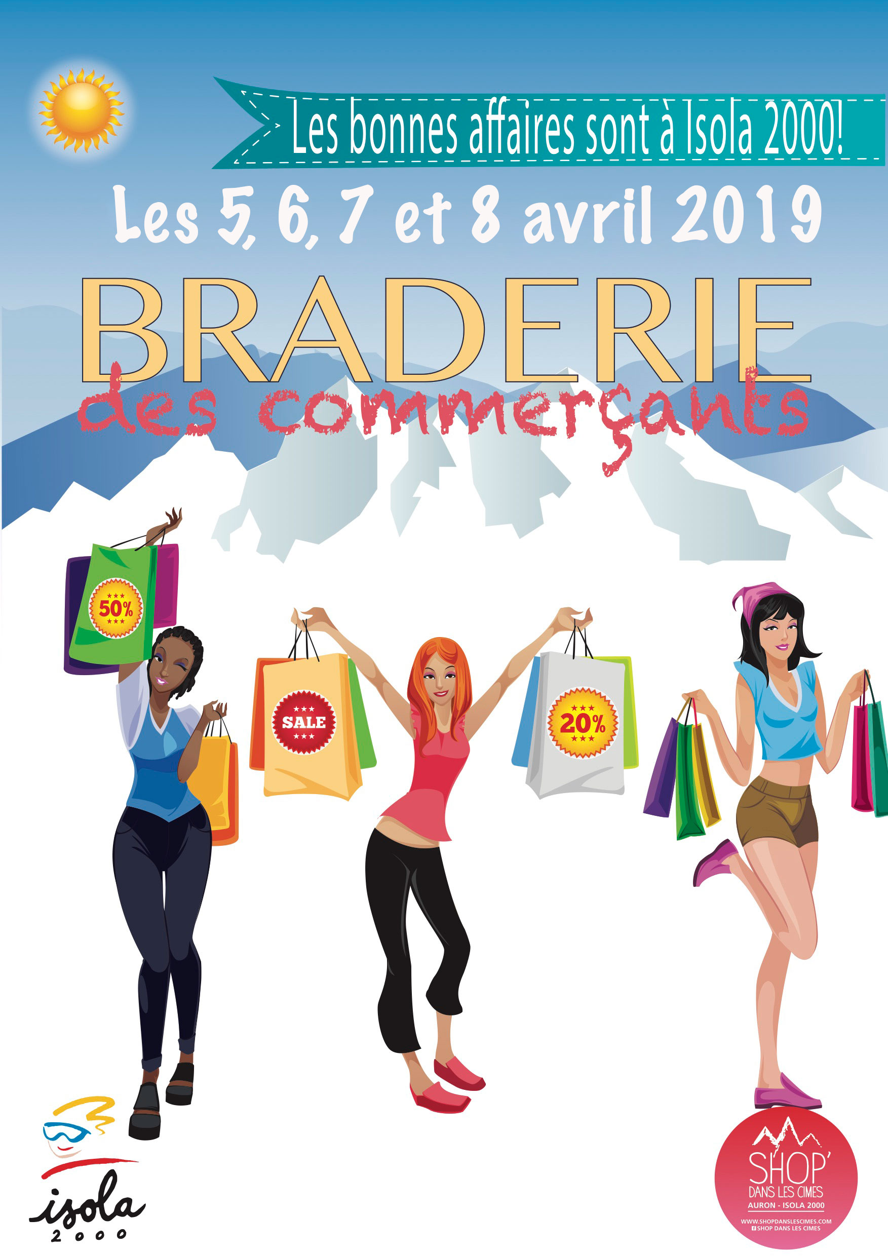 Braderie des Commerçants Isola Avril 2019